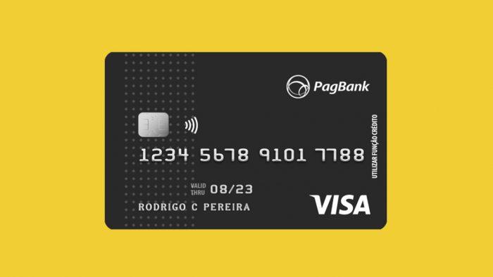 Cartão PagBank será emitido em bandeira Visa e funcionará de modo internacional.