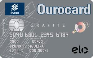Cartão Ourocard Elo Grafite