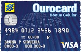 Cartão Ourocard Bônus Celular International