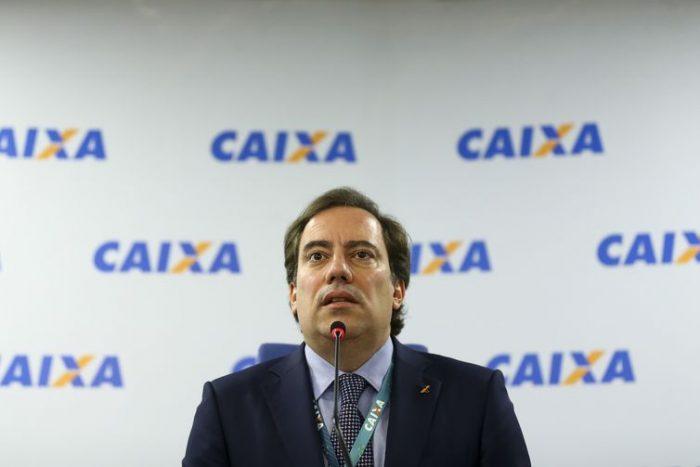 O presidente da CAIXA, Pedro Guimarães, durante entrevista coletiva para anunciar os calendários de pagamentos do FGTS e das cotas do PIS