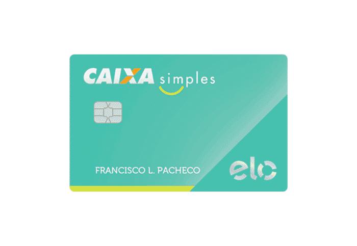 Cartão caixa simples para negativado