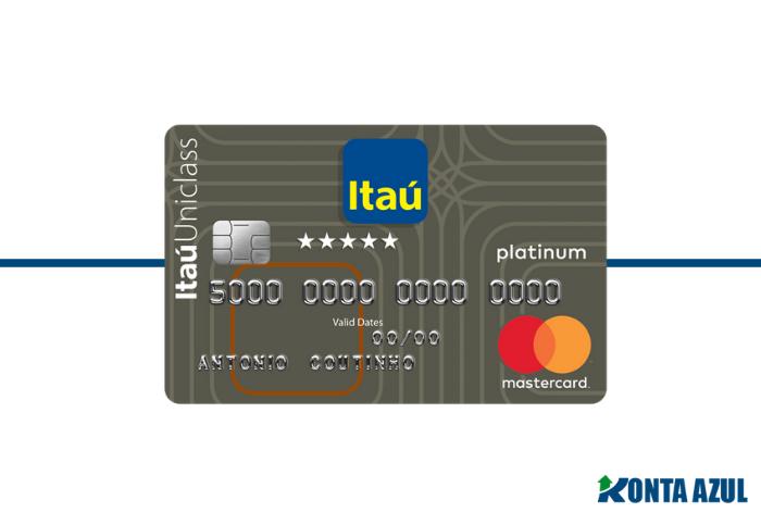 Cartão de Crédito Itaú Uniclass Platinum