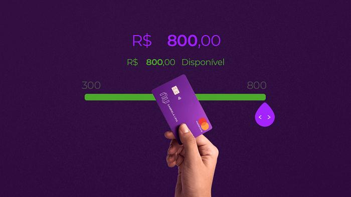Limite cartão de crédito nubank